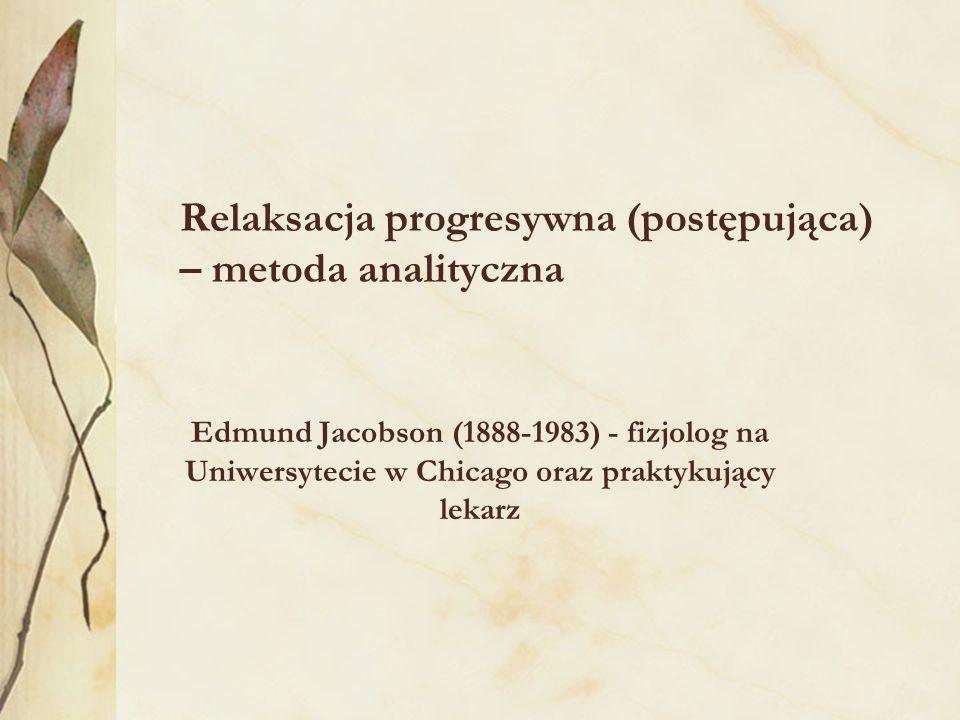 Relaksacja progresywna (postępująca) – metoda analityczna
