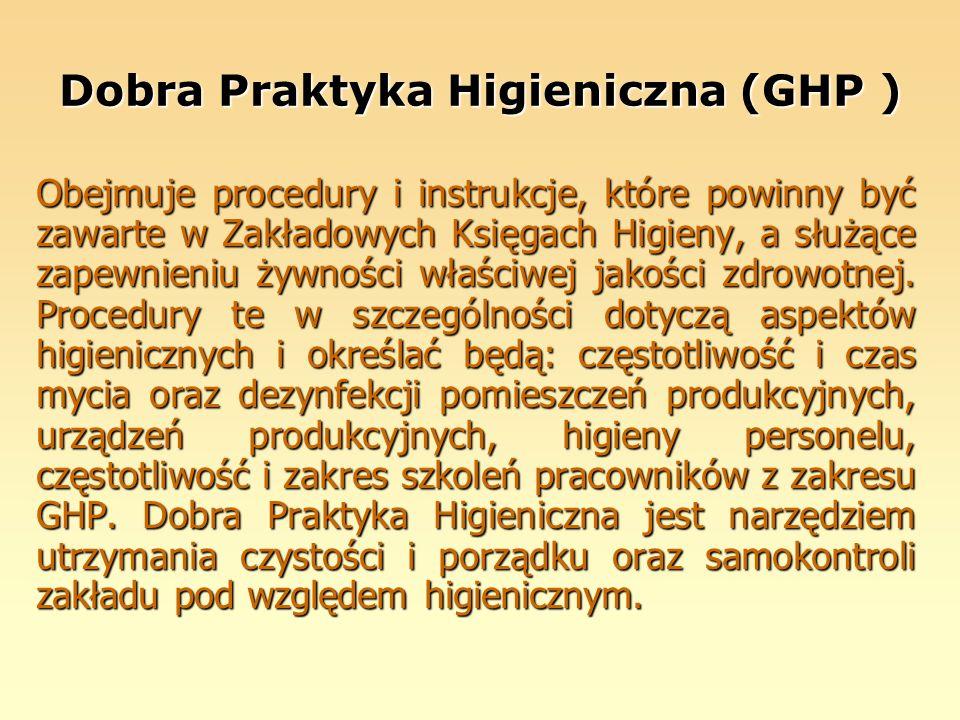Dobra Praktyka Higieniczna (GHP )