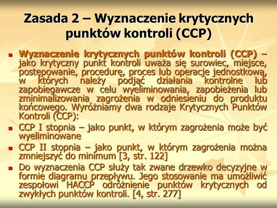 Zasada 2 – Wyznaczenie krytycznych punktów kontroli (CCP)