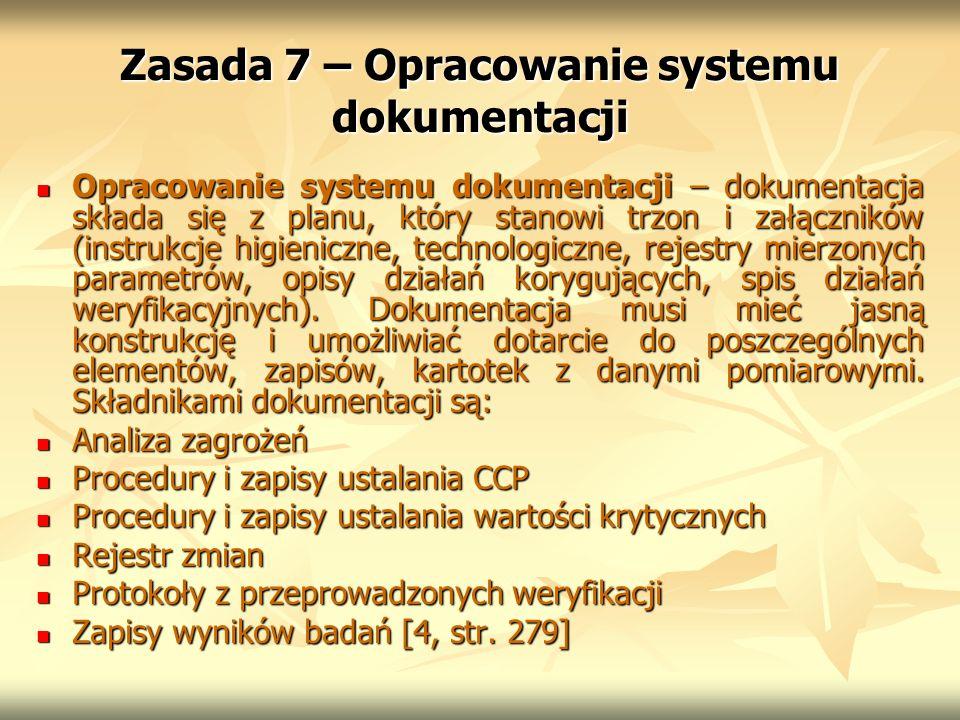 Zasada 7 – Opracowanie systemu dokumentacji
