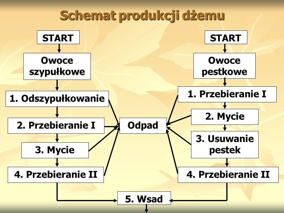 Schemat produkcji dżemu