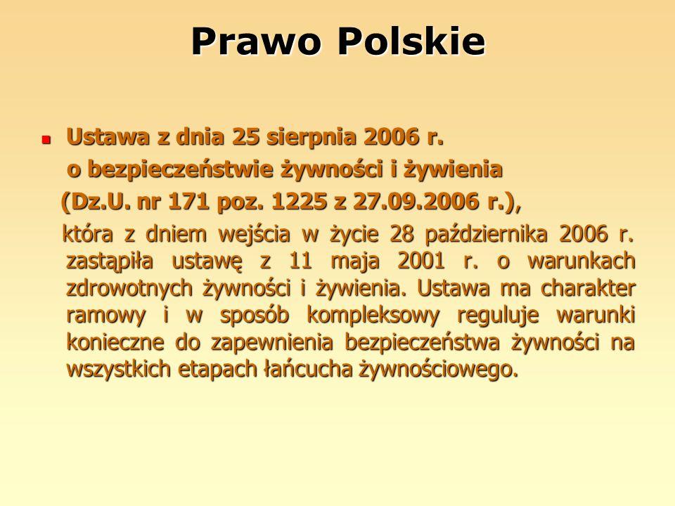 Prawo Polskie Ustawa z dnia 25 sierpnia 2006 r.