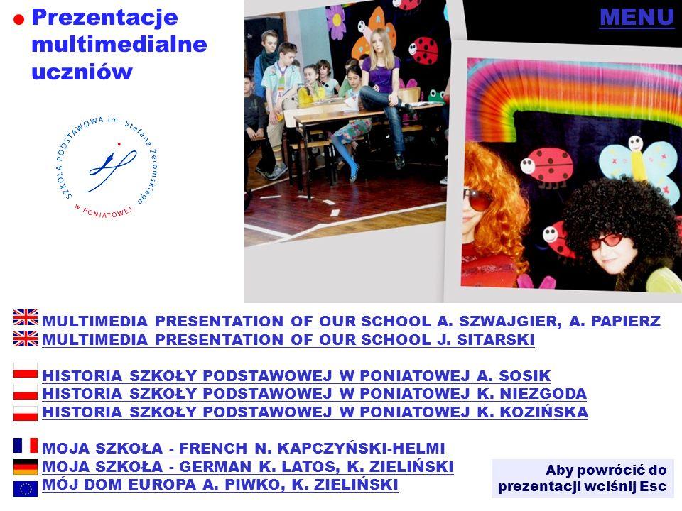 Prezentacje multimedialneuczniów MENU