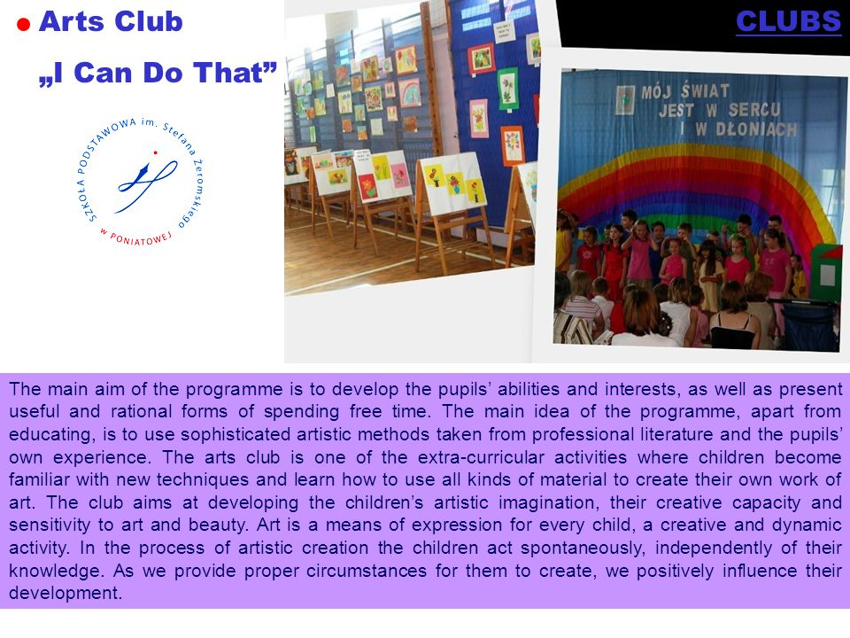 "Arts Club ""I Can Do That CLUBS"