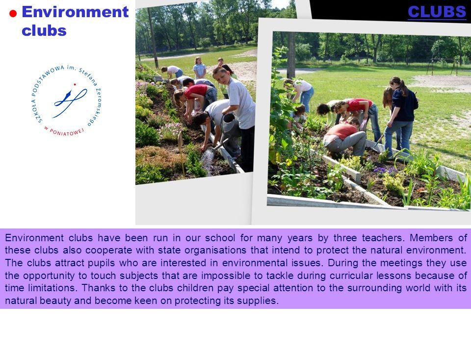 Environment clubs CLUBS