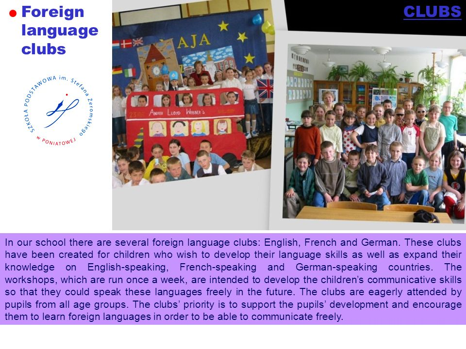 Foreign language clubs CLUBS