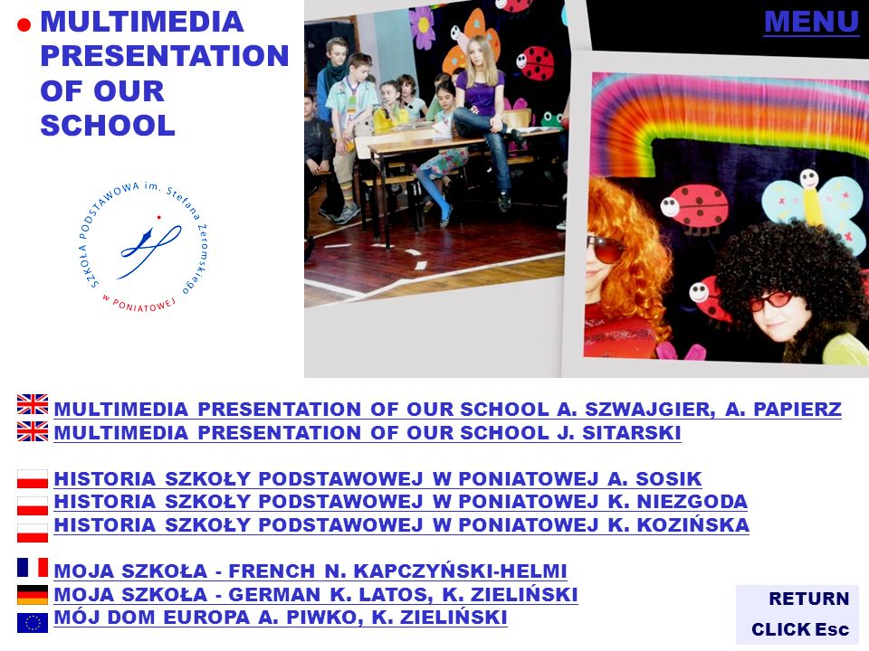 MULTIMEDIA PRESENTATION OF OUR SCHOOL MENU