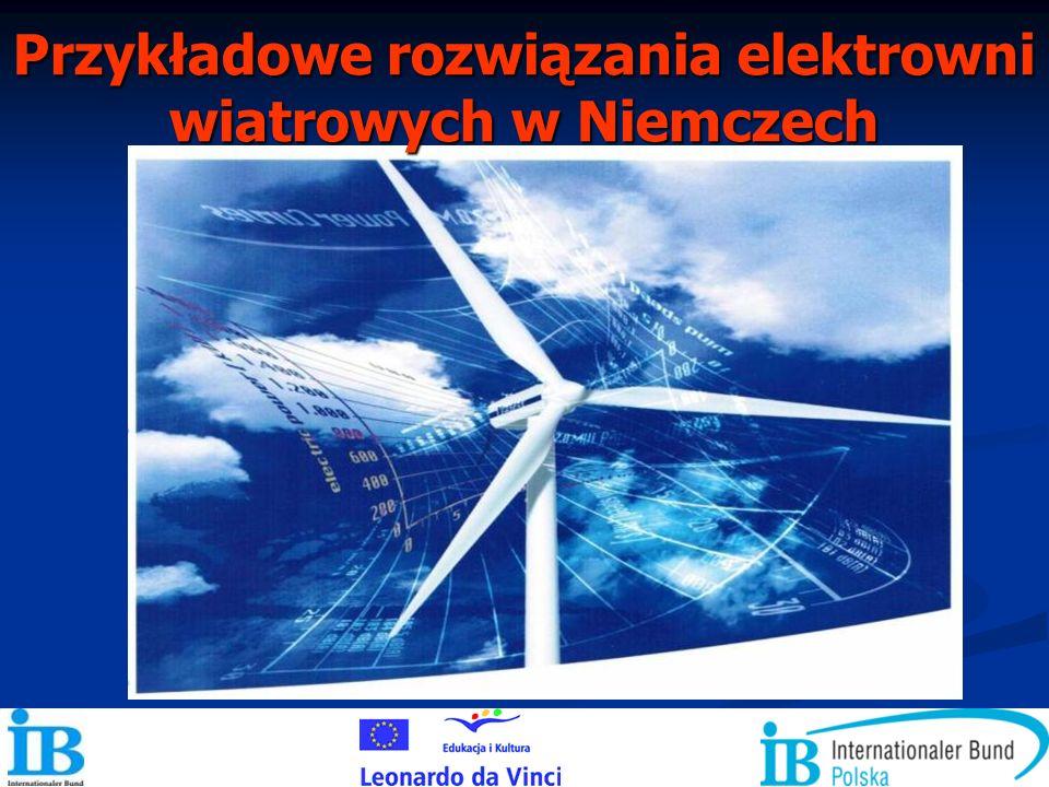 Przykładowe rozwiązania elektrowni wiatrowych w Niemczech