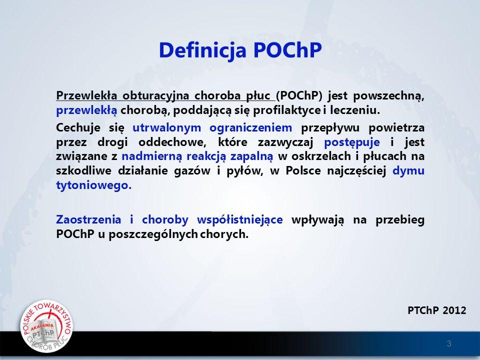 Definicja POChP Przewlekła obturacyjna choroba płuc (POChP) jest powszechną, przewlekłą chorobą, poddającą się profilaktyce i leczeniu.
