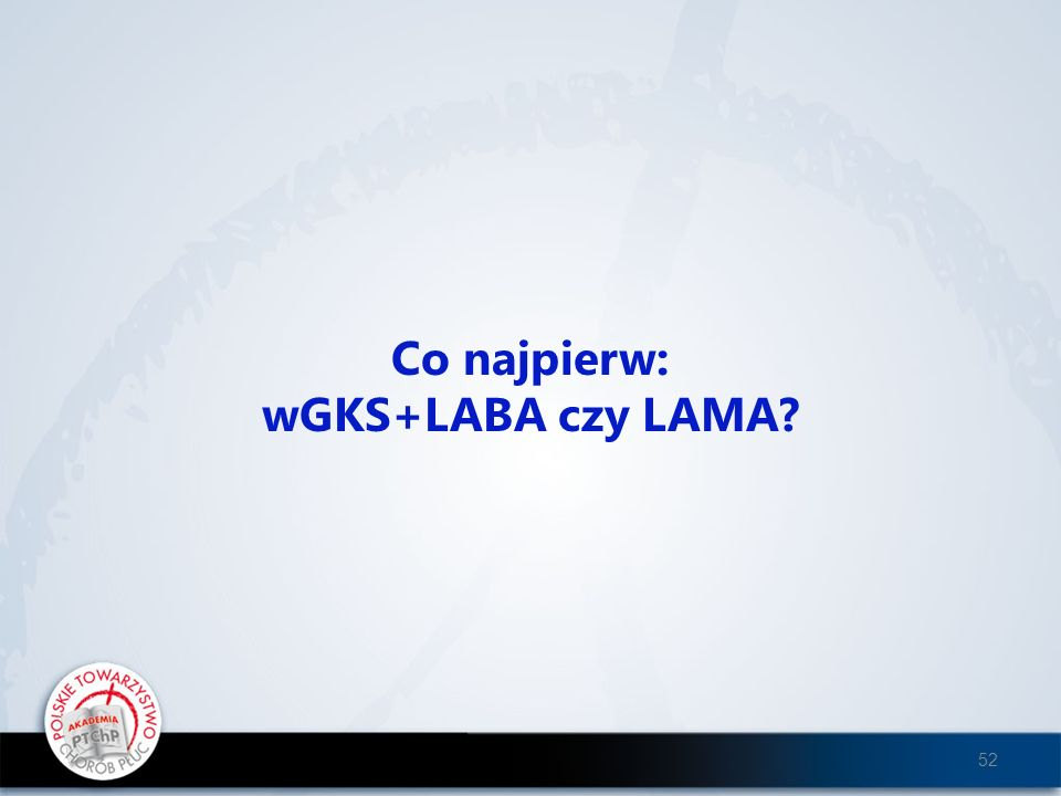 Co najpierw: wGKS+LABA czy LAMA