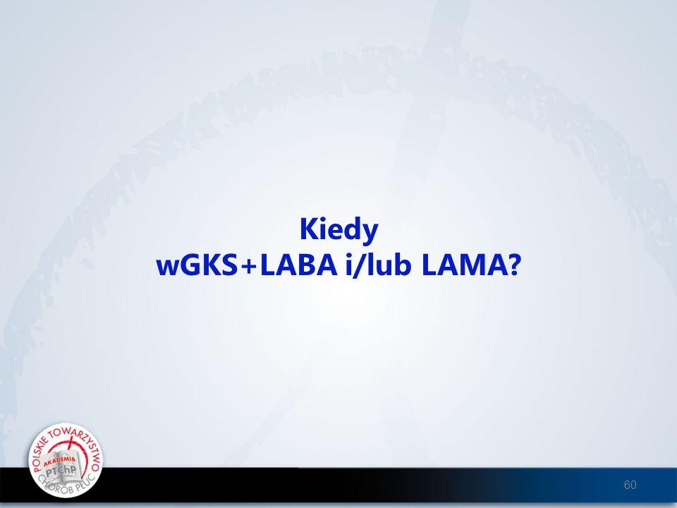 Kiedy wGKS+LABA i/lub LAMA