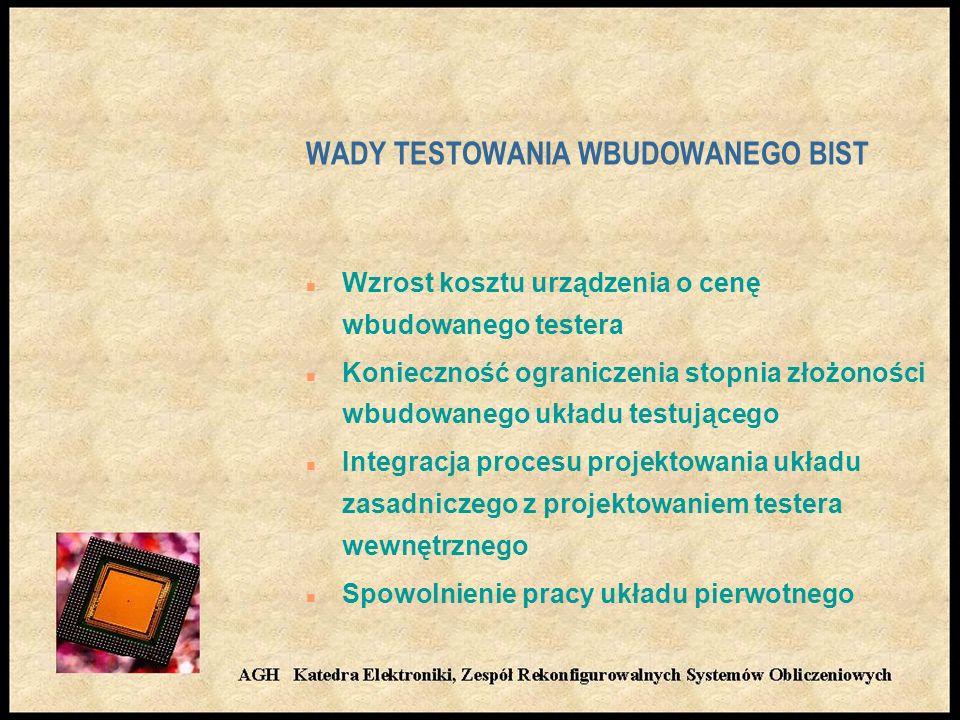 WADY TESTOWANIA WBUDOWANEGO BIST
