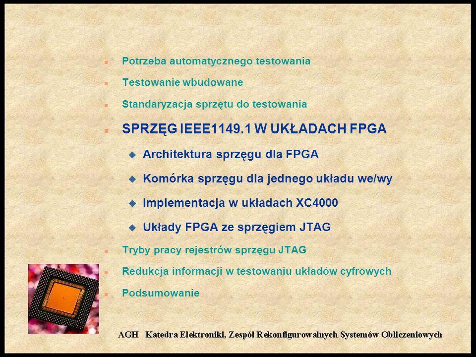 SPRZĘG IEEE1149.1 W UKŁADACH FPGA