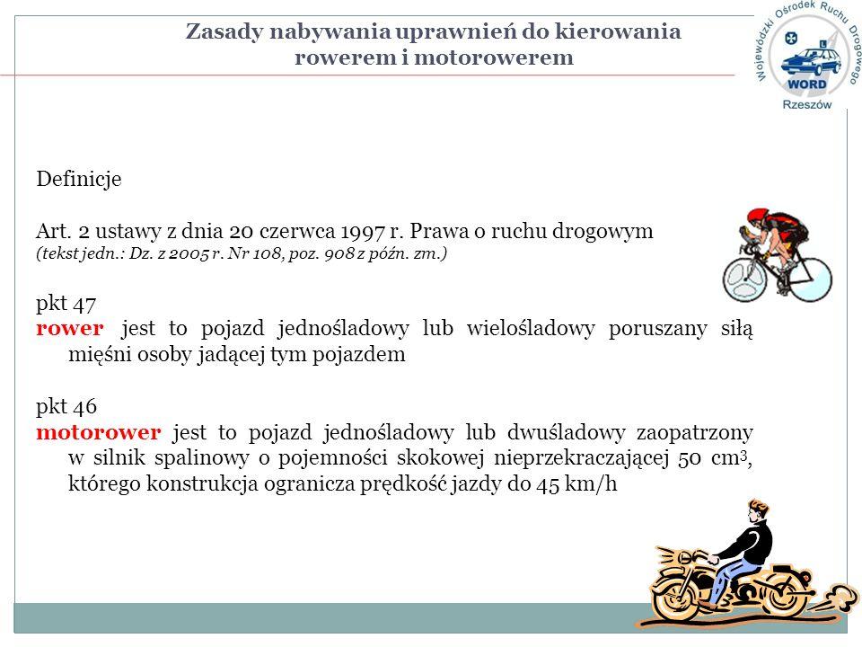 Zasady nabywania uprawnień do kierowania rowerem i motorowerem
