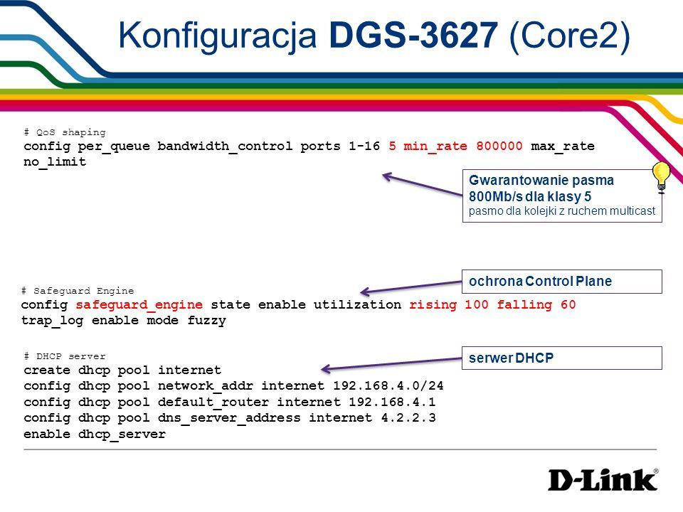 Konfiguracja DGS-3627 (Core2)