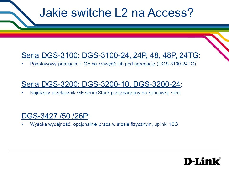 Jakie switche L2 na Access
