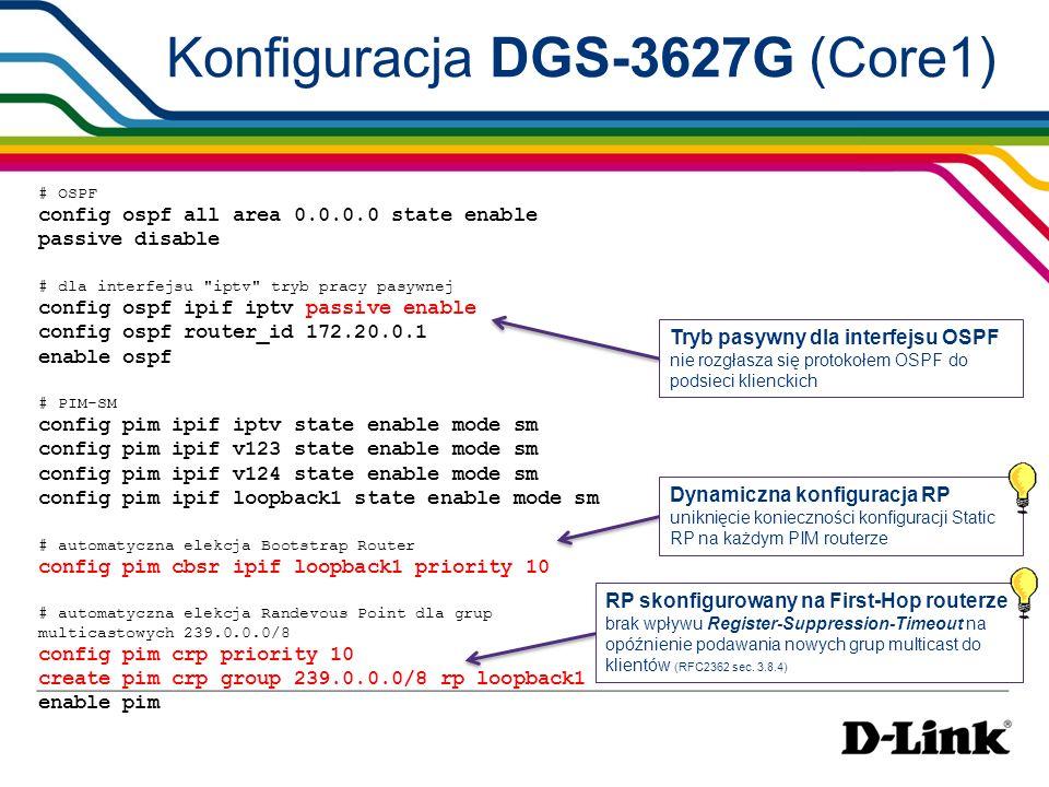 Konfiguracja DGS-3627G (Core1)