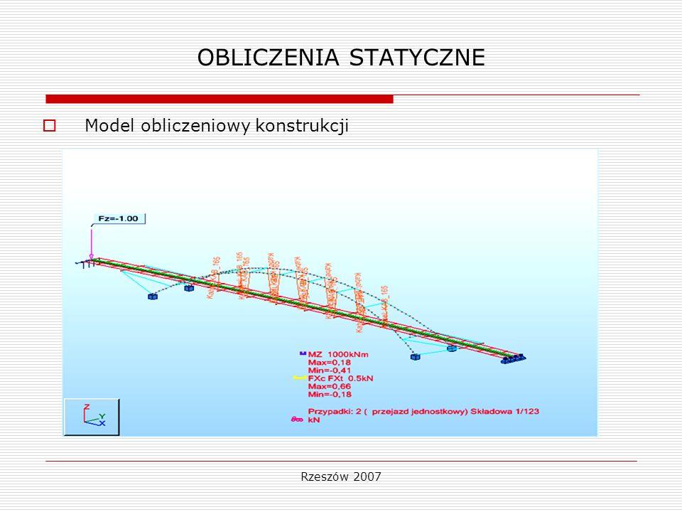OBLICZENIA STATYCZNE Model obliczeniowy konstrukcji Rzeszów 2007