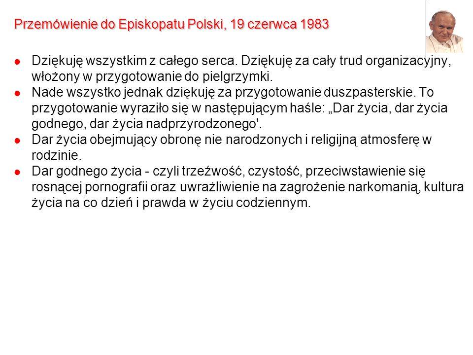 Przemówienie do Episkopatu Polski, 19 czerwca 1983