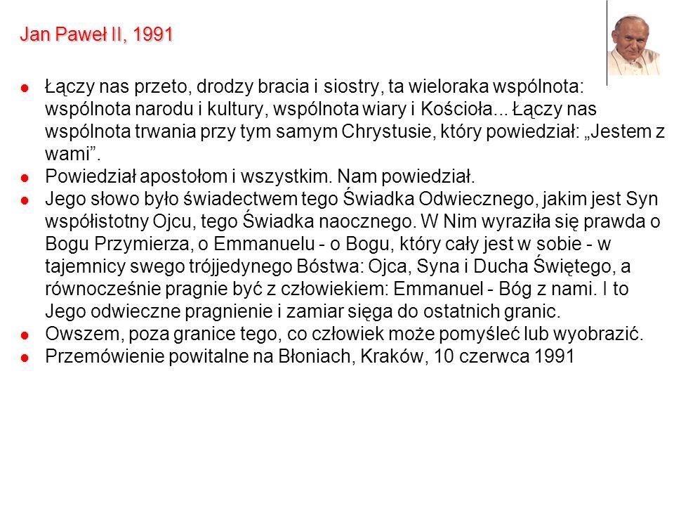 Jan Paweł II, 1991