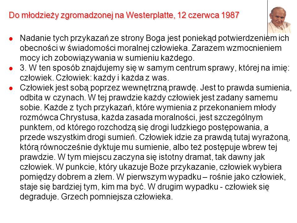 Do młodzieży zgromadzonej na Westerplatte, 12 czerwca 1987
