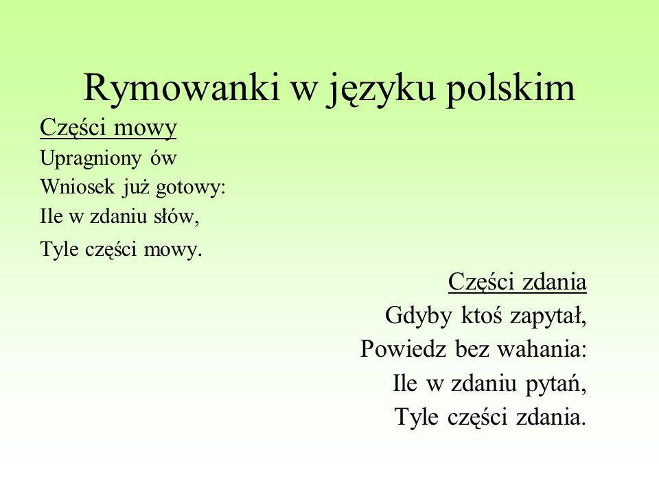 Rymowanki w języku polskim