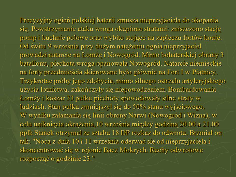Precyzyjny ogień polskiej baterii zmusza nieprzyjaciela do okopania