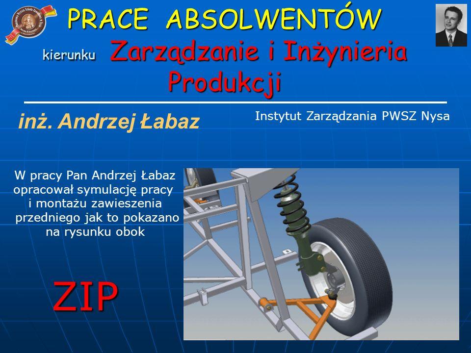 ZIP PRACE ABSOLWENTÓW kierunku Zarządzanie i Inżynieria Produkcji