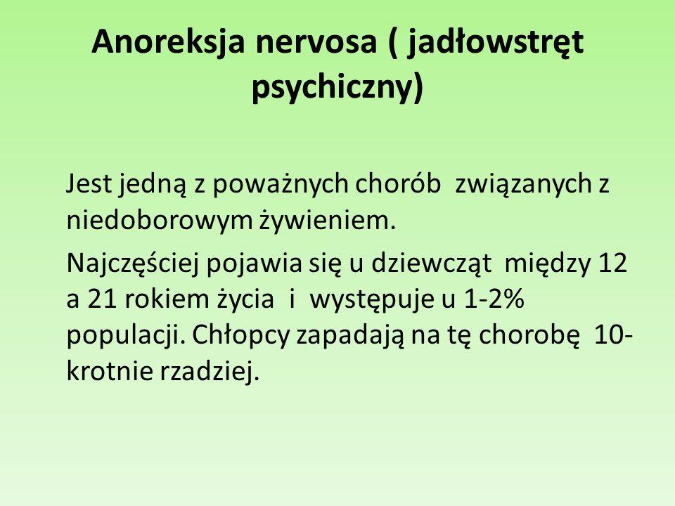 Anoreksja nervosa ( jadłowstręt psychiczny)