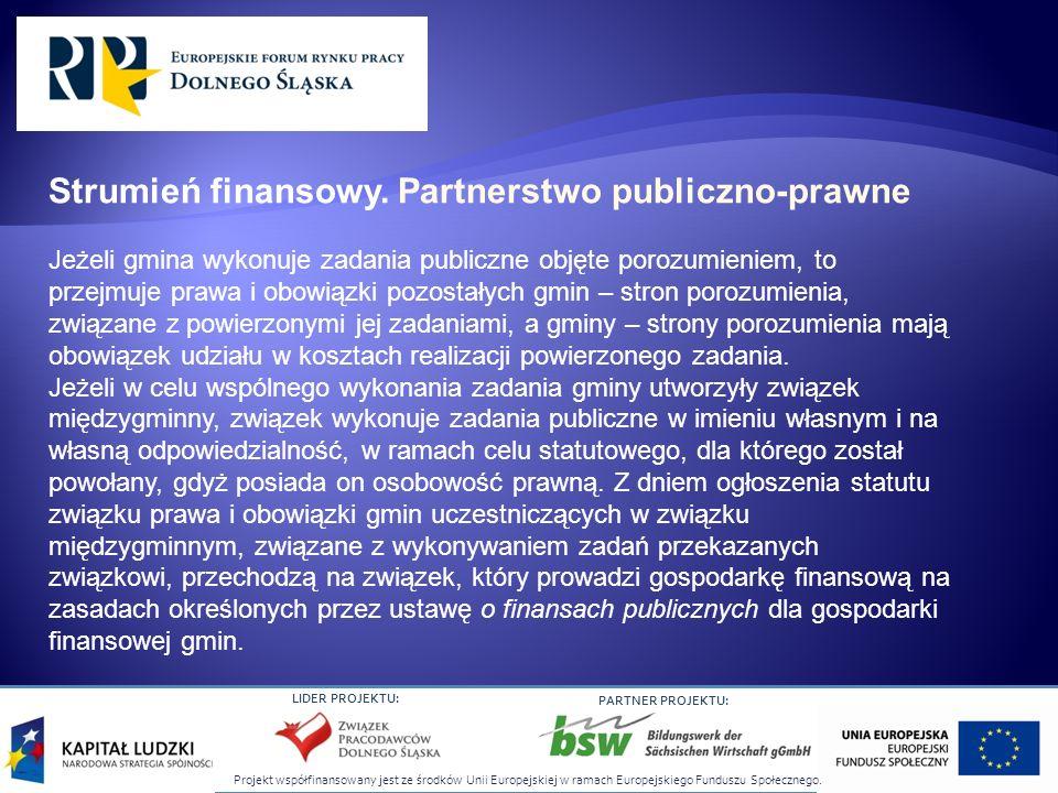 Strumień finansowy. Partnerstwo publiczno-prawne