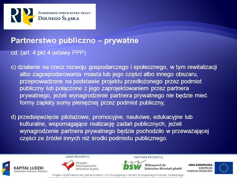 Partnerstwo publiczno – prywatne