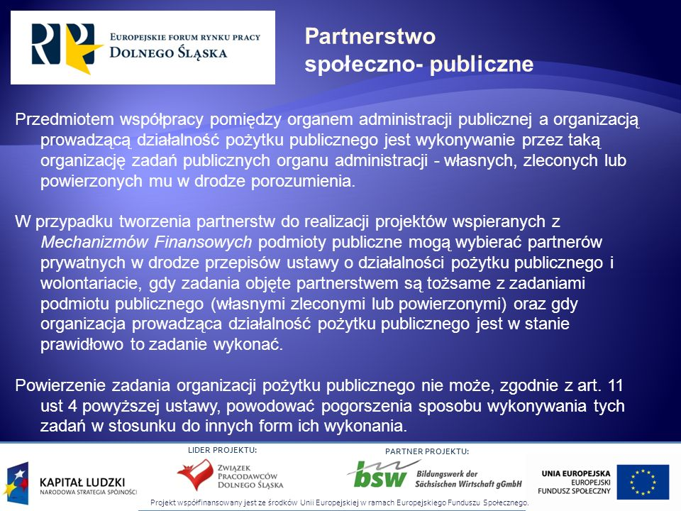 Partnerstwo społeczno- publiczne