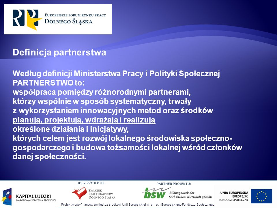 Definicja partnerstwa