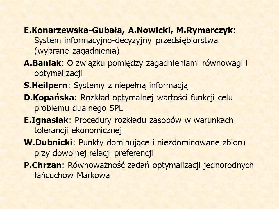 E. Konarzewska-Gubała, A. Nowicki, M