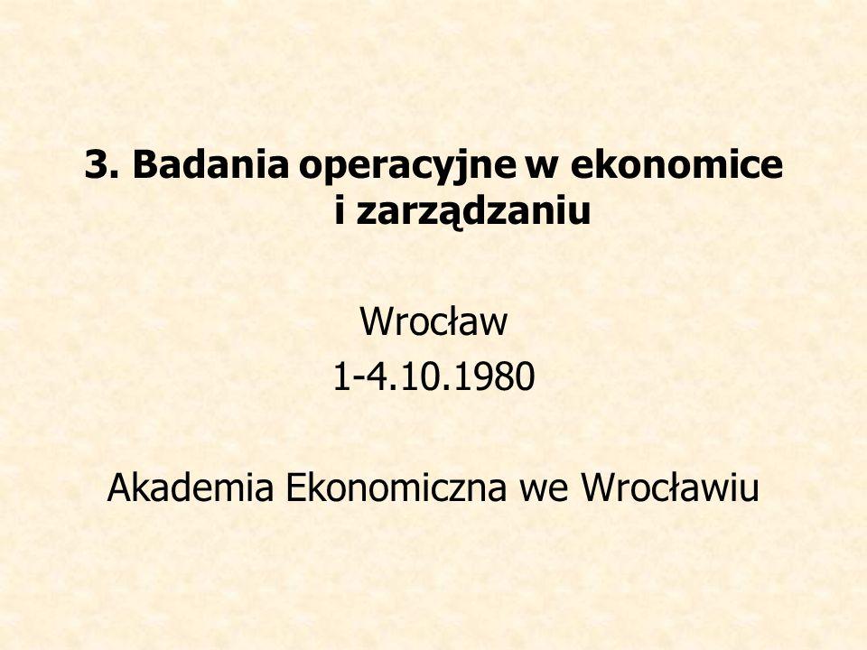 3. Badania operacyjne w ekonomice i zarządzaniu