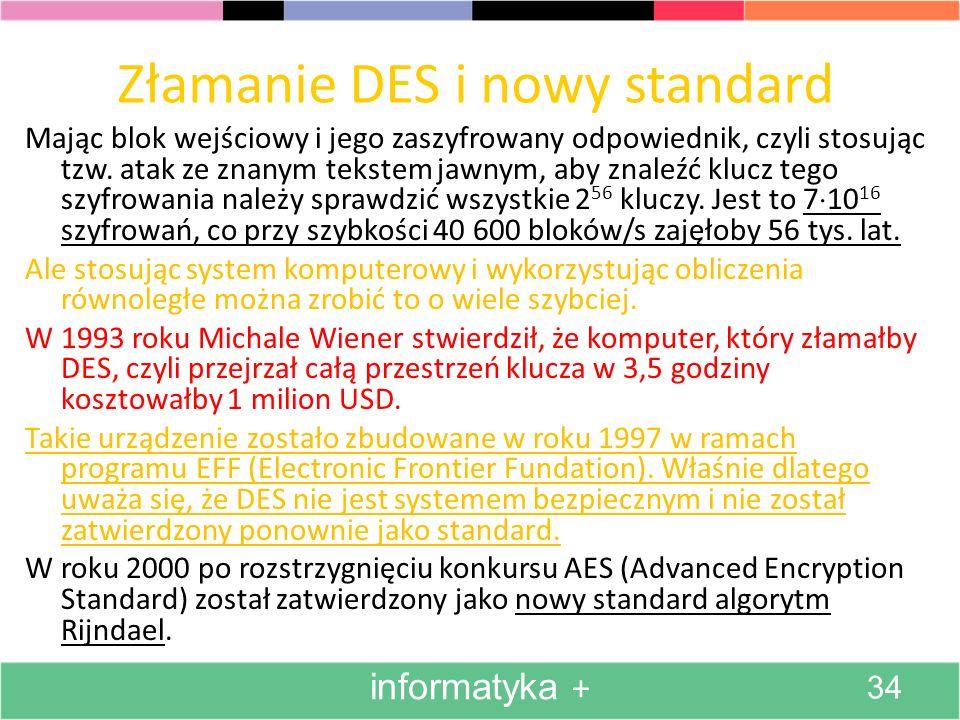 Złamanie DES i nowy standard