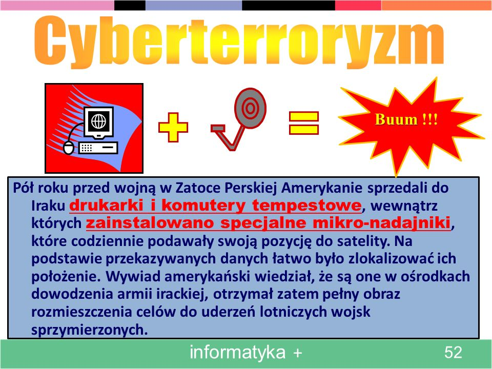 Cyberterroryzm informatyka + Buum !!!
