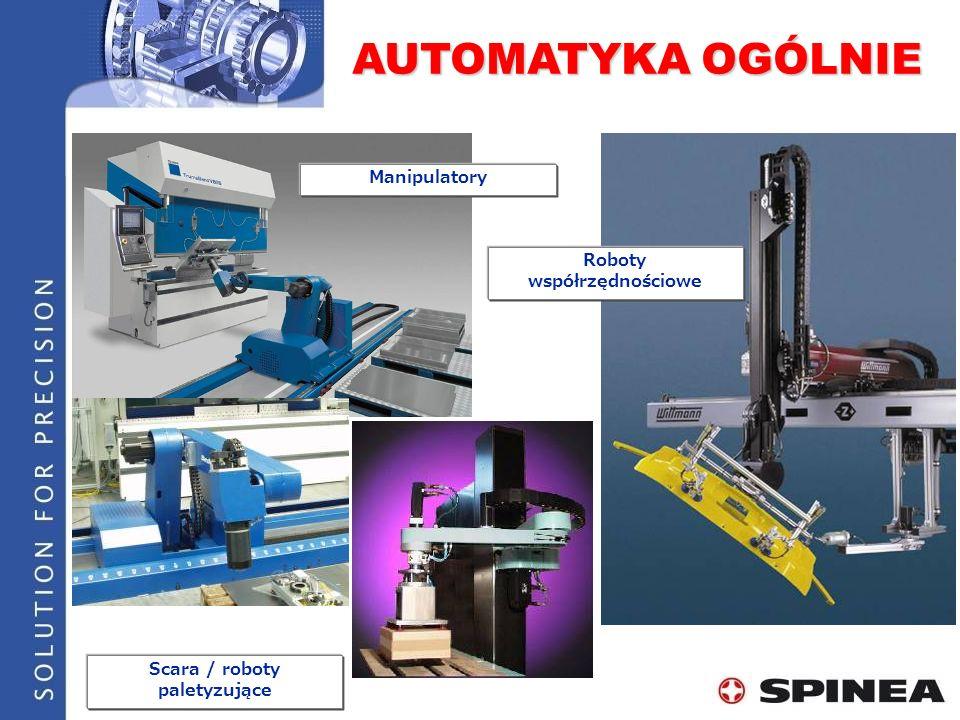 Roboty współrzędnościowe Scara / roboty paletyzujące