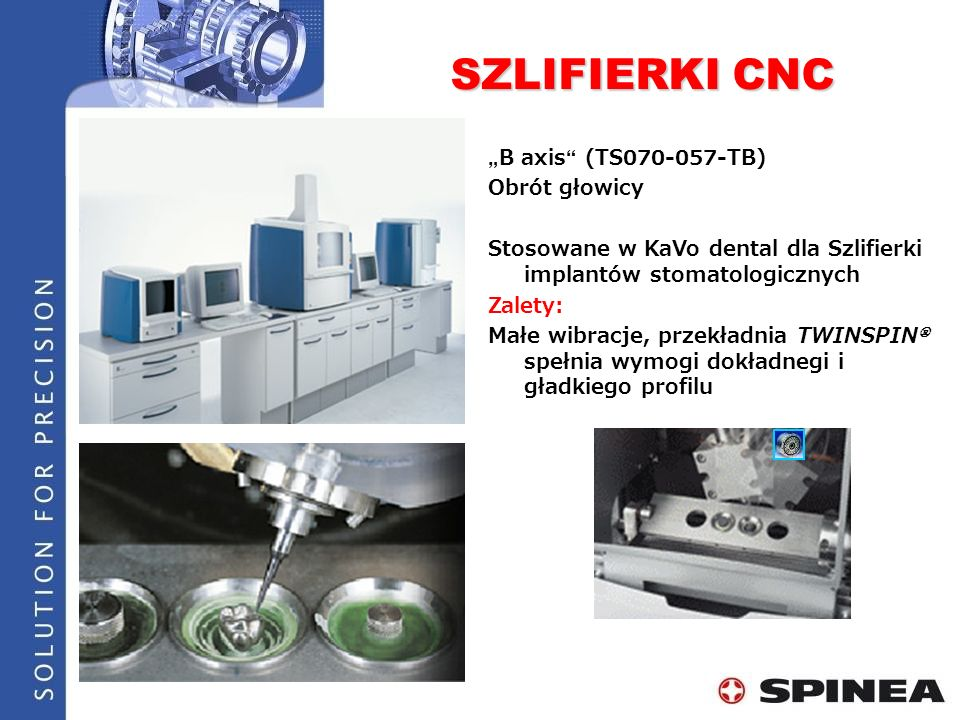 "SZLIFIERKI CNC ""B axis (TS070-057-TB) Obrót głowicy"