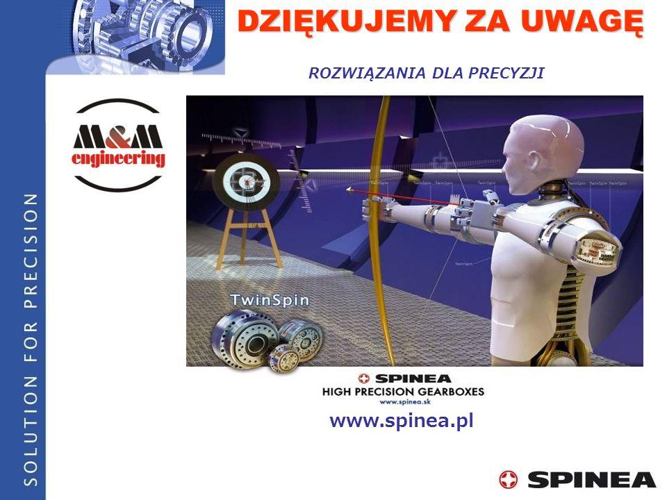 DZIĘKUJEMY ZA UWAGĘ ROZWIĄZANIA DLA PRECYZJI www.spinea.pl