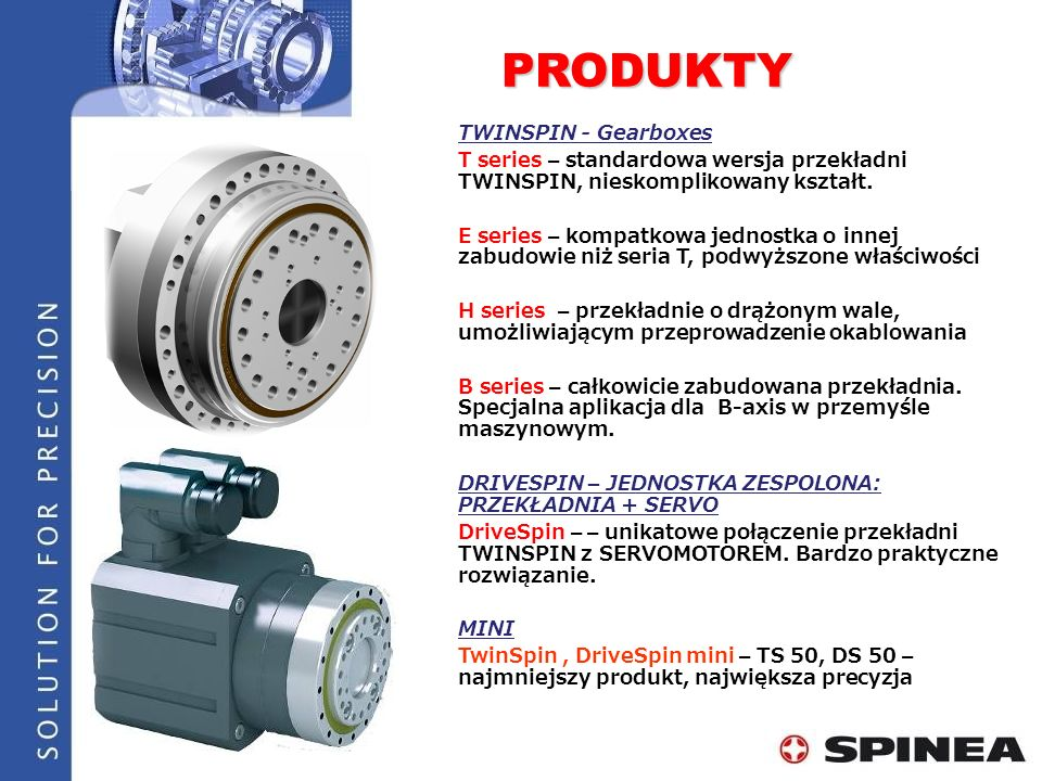 PRODUKTY TWINSPIN - Gearboxes