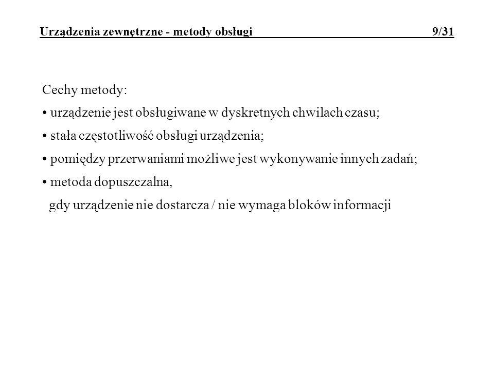 Urządzenia zewnętrzne - metody obsługi 9/31