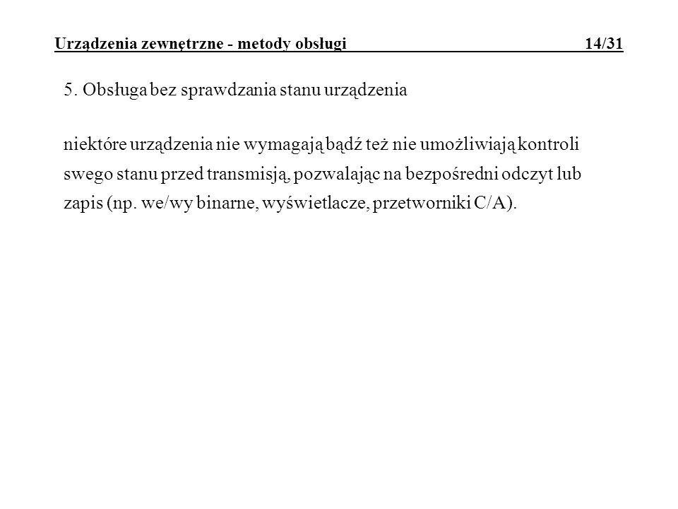 Urządzenia zewnętrzne - metody obsługi 14/31