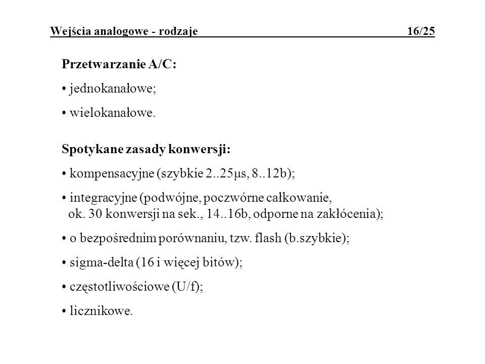 Wejścia analogowe - rodzaje 16/25