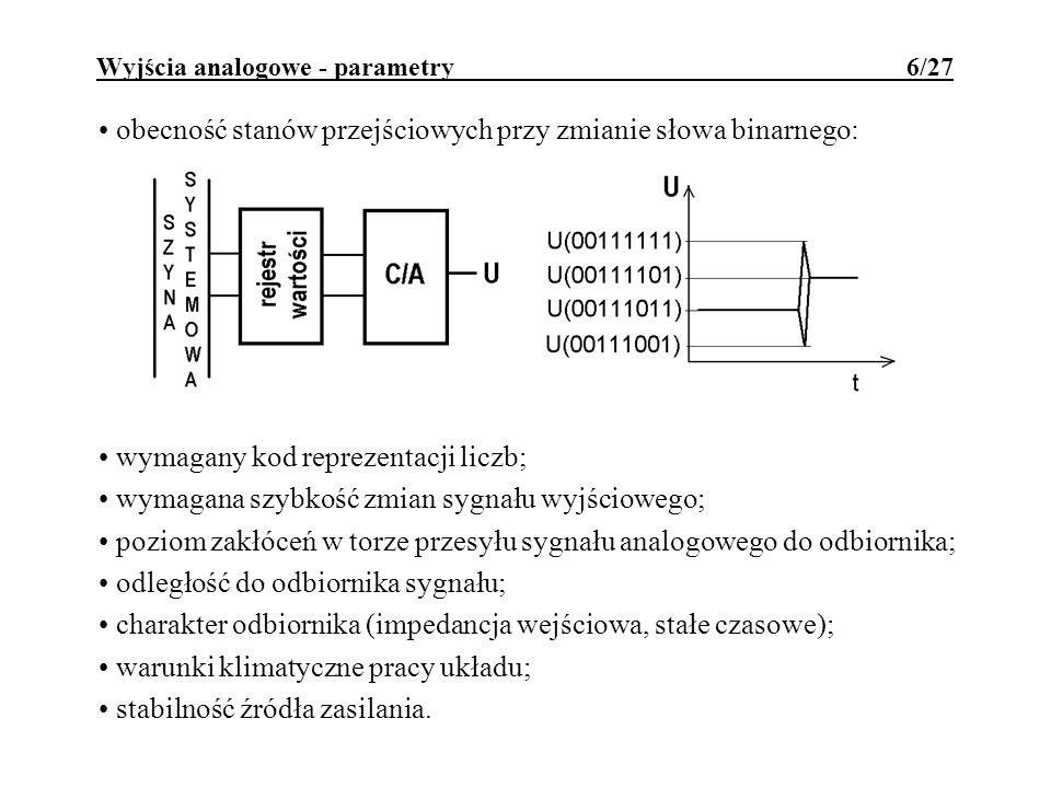 Wyjścia analogowe - parametry 6/27