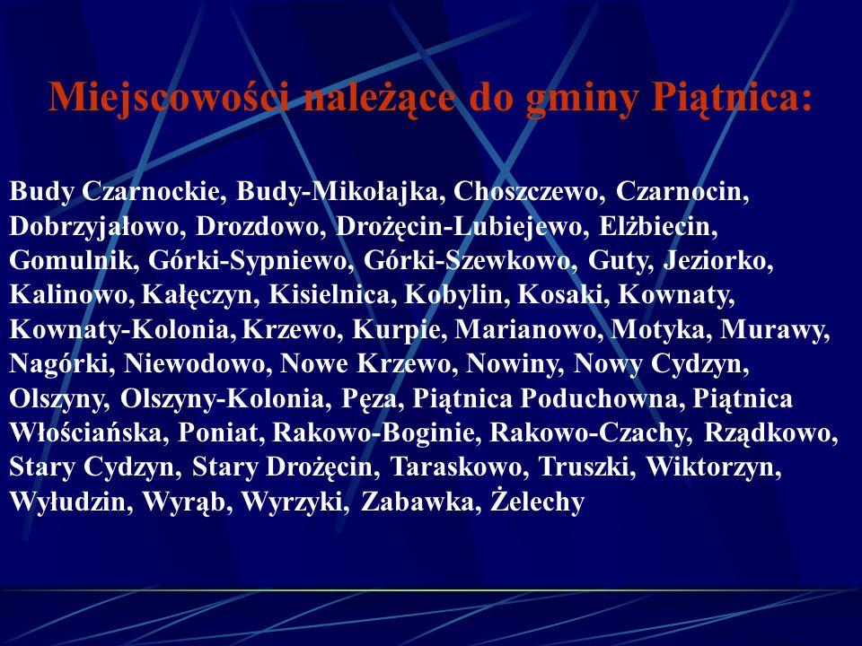 Miejscowości należące do gminy Piątnica:
