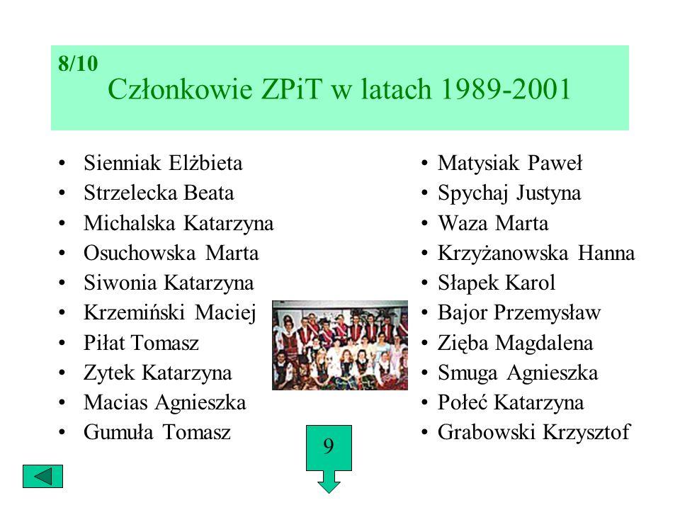Członkowie ZPiT w latach 1989-2001