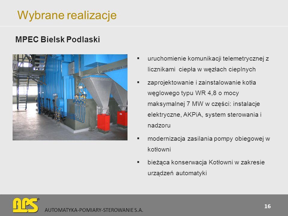 Wybrane realizacje MPEC Bielsk Podlaski