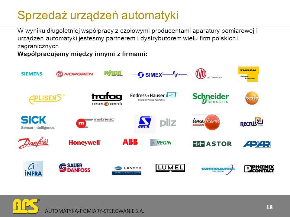 Sprzedaż urządzeń automatyki