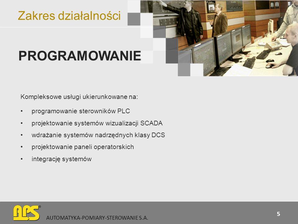 PROGRAMOWANIE Zakres działalności Kompleksowe usługi ukierunkowane na: